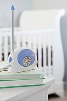 Baby monitor in nursery