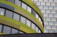Yellow curved building