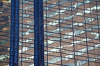 Reflection on a glass skyscraper