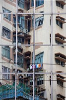 Reflection of an apartment block
