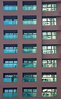 Symmetrical apartment windows