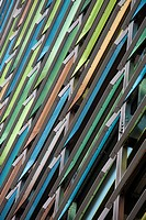 Multicoloured glass panels