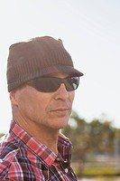 Middle aged man in sunglasses