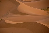 Abstract view of the dunes of Merzouga in Morocco