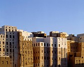 Apartment buildings in Shibam, Yemen