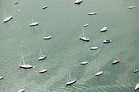 Boats on the water, Newport County, Rhode Island, USA