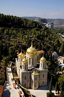 An Aerial view of Moskovia _ the Russian church in Ein Karem