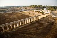 An aerial photo of the Aquaeduct near Lohamei Hagetaot