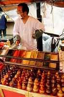 Japan, Tokyo, street market, spice vendor,