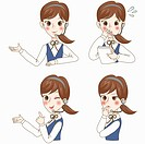 various types of expressions office lady