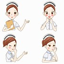 various types of expressions of nurse