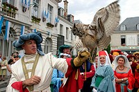 France, Centre, medieval feast of Chateaudun.