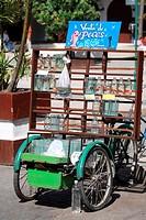Cuba, Santa Clara, selling fishes