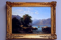 Switzerland, Geneva, museum of art, painting of Alexandre Calame