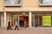 The Waitrose supermarket shop store in Cambridge , Cambridgeshire , England , Britain , Uk