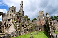 England, North Yorkshire, Fountains abbey