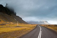Empty Icelandic road, BÃ,r, South East Iceland