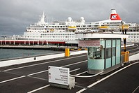Cruise ship Black Watch moored at Portas do Mar  Ponta Delgada, Azores islands, Portugal