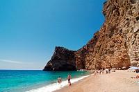 Paradise Beach on greek island of Corfu Ionian Sea