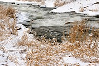 Junction Creek rapids in early winter Greater Sudbury Ontario