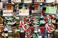 Hibiscuis tea for sale at Khan al Khalili bazaar Cairo Egypt