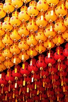 Chinese Lanterns in a Temple