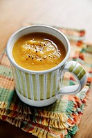 Pumpkin soup in a cup