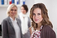 Germany, Bavaria, Munich, Businesswomen in office