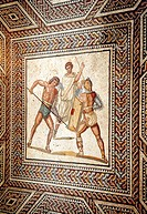 Roman Mosaique, Nennig, Saarland, Germany