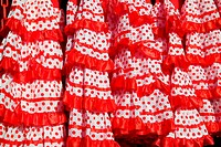 gipsy dress red spots pattern texture andalusian Spanish