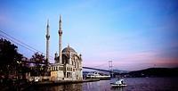 Ortakoy Mosque Buyuk Mecidiye Mosque at Ortakoy in Istanbul, Turkey