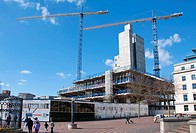 'The Library of Birmingham' construction site in the city centre  West Midlands, UK