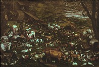 BASSANO: NOAH'S ARK.Studio of Bassano: The Animals entering Noah's Ark. Oil.