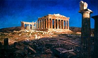 THE PARTHENON.By Frederick Church. Oil on canvas, 1871.