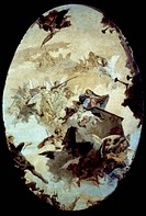 TIEPOLO: MIRACLE, 1743-44.G.B. Tiepolo: Miracle of the Holy House of Loreto. Canvas, 1743-44.