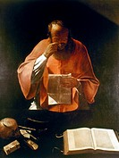SAINT JEROME.Canvas by Georges de La Tour, 1621-3.