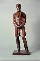 ABRAHAM LINCOLN STATUE.Bronze working model by Daniel Chester French, 1910-11.
