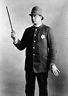 POLICEMAN, 1891.A Chicago, Illinois, police officer. Photographed in 1891.