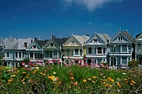 Row of houses, San Francisco, California, USA