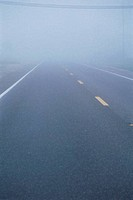 Fog over a road