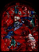 CHAGALL: TRIBE OF ZEBULON.Jerusalem Window, 1961, by Marc Chagall.