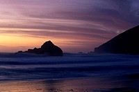 Sunset over Pfeiffer Beach, California, USA