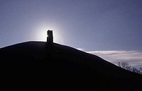 Silhouette of a hill, Glastonbury, England