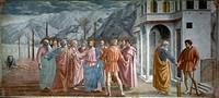 MASACCIO: TRIBUTE MONEY.Fresco, c1425.