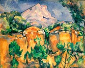 CEZANNE: SAINTE-VICTOIRE.La Montagne Sainte-Victoire. Oil on canvas, 1898, by Paul Cezanne.