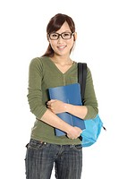 Portrait of a female university student