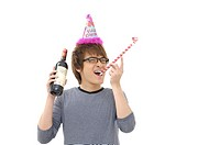 Man enjoying a birthday party