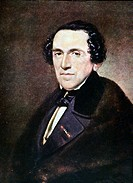 GIACOMO MEYERBEER.(1791-1864). German composer. Oil on canvas by Anton Einsle.