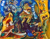 CHAIM SOUTINE (1893-1943).The Village. Oil on canvas.