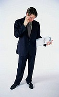 Businessman holding a clipboard